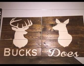 Buck and doe room decor
