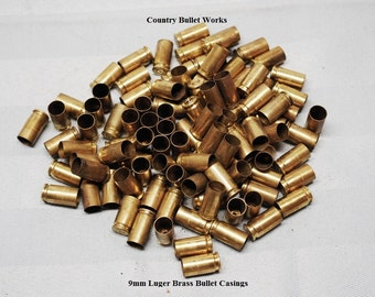 9mm Luger Pistol / Rifle Brass Bullet Casings - BW8.2-BW7.2 - Huge Lot Of 50 - Perfect For All Kinds Of Crafting