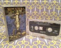 Chaos AD - Sepultura Vintage Cassette Tape rock Heavy Metal