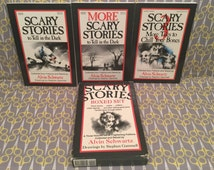 Scary Stories to Tell in the Dark boxed set - Alvin Schwartz scary horror trilogy original Vintage Paperback Books Stephen Gammell Art