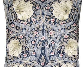 William Morris Pimpernel Indigo & Hemp Archive Cushion Cover