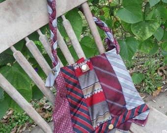 Handmade Purse w/ Vintage Neck Ties