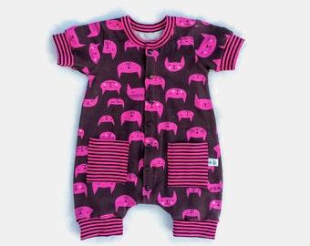 Baby Girl Cotton Romper, Infant Girl Cotton Clothes , Baby Girl Summer Overalls, Baby Girl Jumper, Baby Girl Cotton Gift