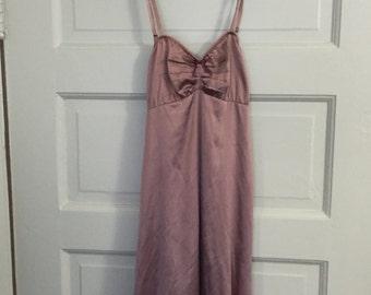 Vintage Dusty Rose Silk Slip Dress