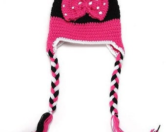 Minnie Mouse Crochet Kids Hat