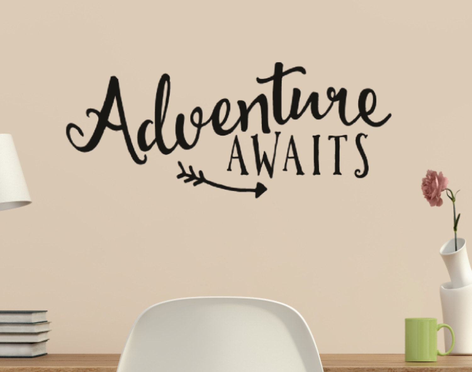 Adventure Awaits With Arrow Vinyl Wall Quote Sticker Wall