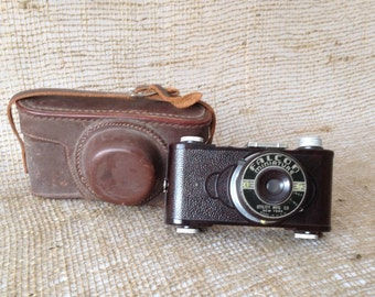 Falcon Miniature Camera with Leather Case