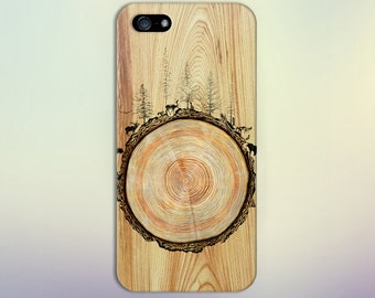 Stained Wood Animals Tree Trunk Phone Case Nature iPhone X iPhone X  Samsung Galaxy s8 edge s6 and Note 8  S8 Plus Phone Case