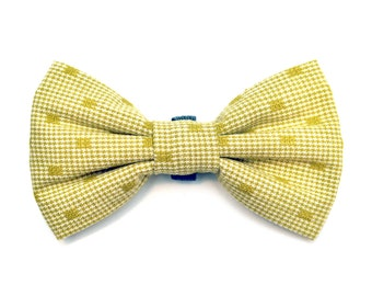 CLEARANCE! The Kane Bow Tie - Dog Bowtie, Made in Brooklyn, Yellow, Green, Bowtied, Fancy, Hipster