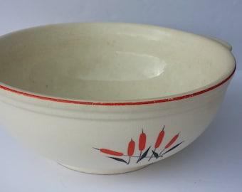 Universal Cambridge - Cattail Pattern - Casserole / Mixing Bowl (1940s)
