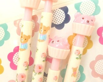 Cute kawaii Pink Bear Cupcake Pencil