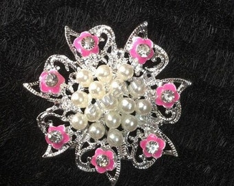 10 pcs Pearl Rhinestone Button ,Embellishment /Wedding Bridal Accessories