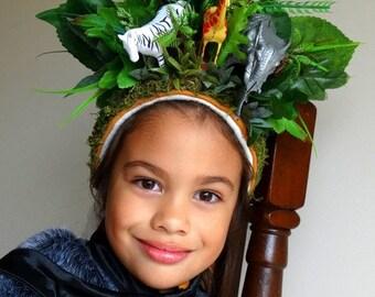 Ooak Jungle Theme Bonnet #Photo Prop #RTS