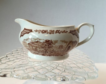 "Gravy Boat in ""Fair Winds"" Brown Transferware... by, Alfred"