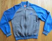 Vintage 80s 90s Nike Track Jacket Zip Up Sweatsuit Jumper Gray Tag