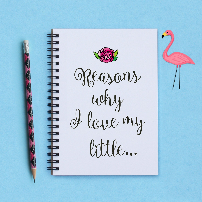Sorority sister gift Reasons Why I Love My Little 5 x