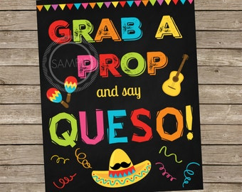 8x10 Printable Photo Booth Cinco de Mayo / Fiesta / Party / Sign *INSTANT DOWNLOAD*