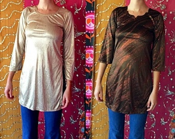SHANNONMYINDI10 Vintage 80s Sequins Tunic Lot Of 2 XS