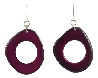 Orette Dangle Tagua Earrings Eco Friendly Earrings Sustainable Dangles