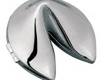 Silver Fortune Cookie With Free Engraving Silver Fortune Box