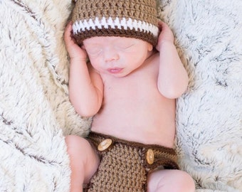 Baby deer crochet outfit, woodland creature, newborn photo outfit, babys first pictures, baby shower gift