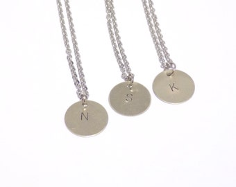 Silver initial necklace, Personalized jewelry, Initial necklace, personalized necklace, bridesmaid gift, silver necklace, monogram jewelry