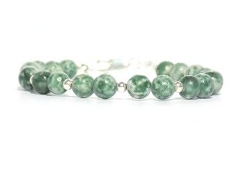 Tree agate bracelet , Green bracelet , Bracelet , fashion bracelet, gemstone bracelet, dark green bracelet, green gemstone bracelet