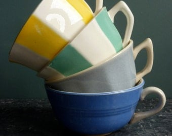4 vintage french espresso cups
