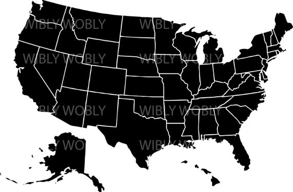 Us Map Divided States Ai Svg Files