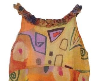 Kids Classics Silk Patterned Dress