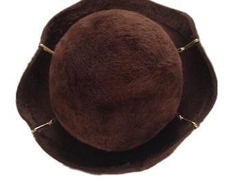 Yves Saint Laurent Brown Hat - Made in Austria
