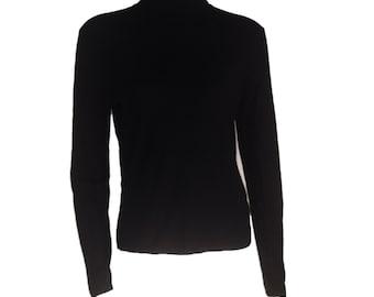 Black Turtleneck Sweater - Size 10