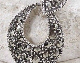 Sterling Silver Necklaces / Marcasite Necklaces / Vintage Necklaces / Sterling Silver Necklaces (Item#EP360)