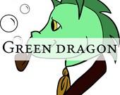 Scale Polish SAMPLE - Green Dragon