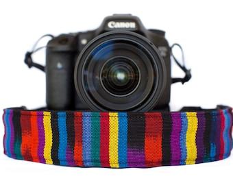 Bohemian Camera Strap Fruit Stripe