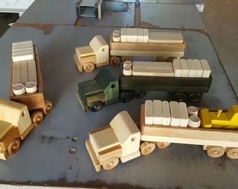 Wood cargo truck