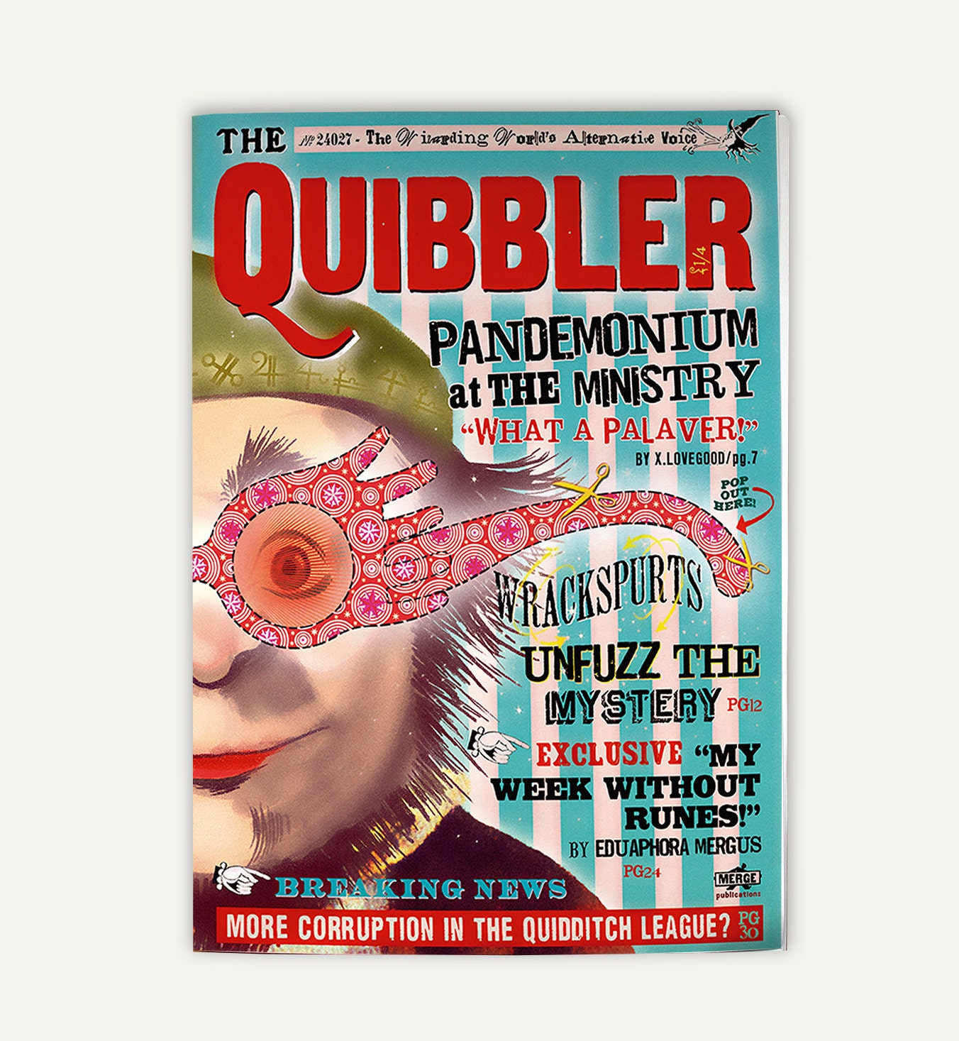Quibbler magazine Two sided cover and interior pagesQuibbler Printable