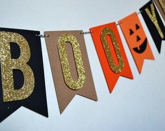 Boo Yeah Halloween Banner Halloween Decor Pumpkin Banner Boo Sign