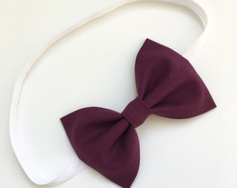 Plum Purple Bow Headband