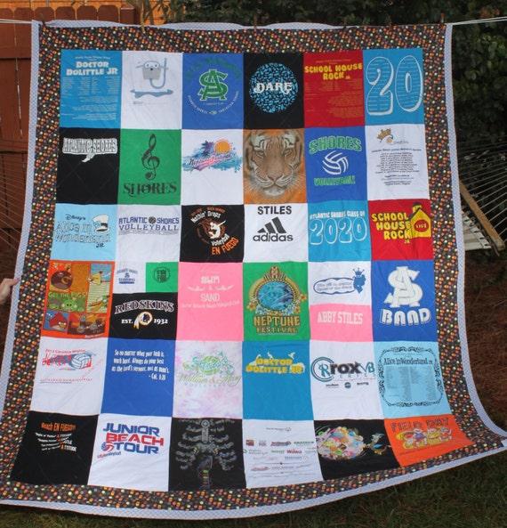 T Shirt Quilt Pattern Queen : T-Shirt Quilt Queen Size DEPOSIT ONLY custom memory tshirt