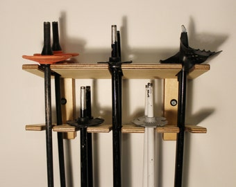 Totti Ski Pole Organizer (Four Sizes Available For Holding 3, 5, 7 And 9 Pairs Of Ski Poles)