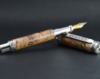 Maple burl fountain pen