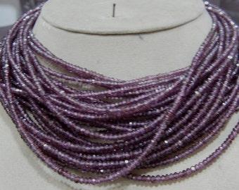1 strand   Rodholite Garnet  Faceted roundel beads  14''  8, grams 3, MM