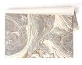 Paper Placemat Pack - Gold and Gray Marble Pattern - Pack of 30