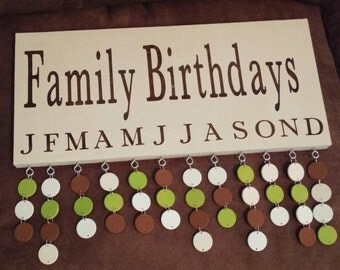 Family Birthdays Calendar