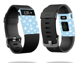 Skin Decal Wrap for Fitbit Blaze, Charge, Charge HR, Surge Watch cover sticker Baby Blue Designer