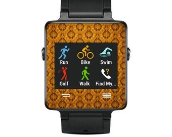 Skin Decal Wrap for Garmin Vivoactive Forerunner Watch cover sticker Vintage Gold