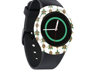Skin Decal Wrap for Samsung Gear S2, S2 3G, Live, Neo S Smart Watch, Galaxy Gear Fit cover sticker Turtle Tile