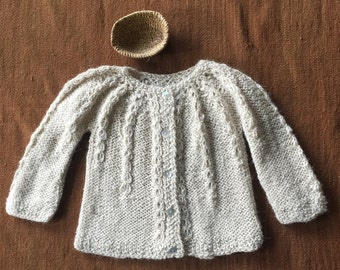 Alpaca sweater, Knitted sweater, Baby sweater, new born sweater