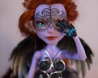 Monster High Avea Trotter repaint ooak doll